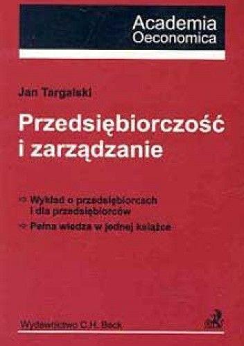 Okładka książki Przedsiębiorczość i zarządzanie