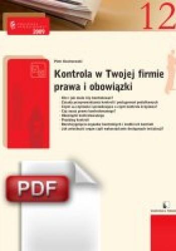 Okładka książki Kontrola w Twojej firmie - prawa i obowiązki