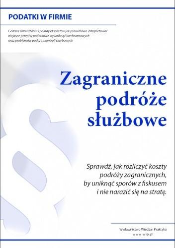 Okładka książki zagraniczne podróże służbowe pracowników - e-book