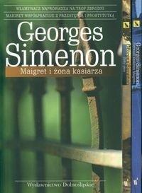 Okładka książki Maigret i żona kasiarza + Żółty pies + Pierwsze śledztwo Maigreta