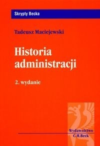 Okładka książki Historia administracji - Maciejewski Tadeusz