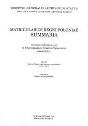 Okładka książki Matricularum regini poloniae Summaria Tom 6