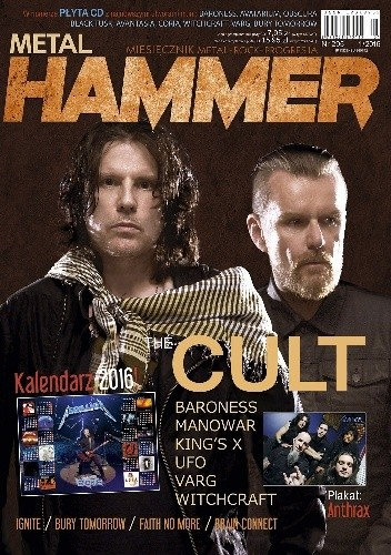 Okładka książki Metal Hammer nr 295 (1/2016)