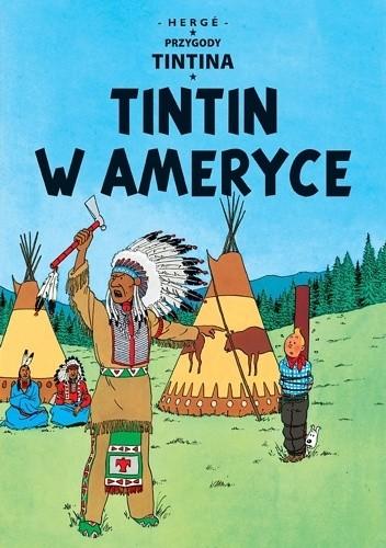 Okładka książki Tintin w Ameryce