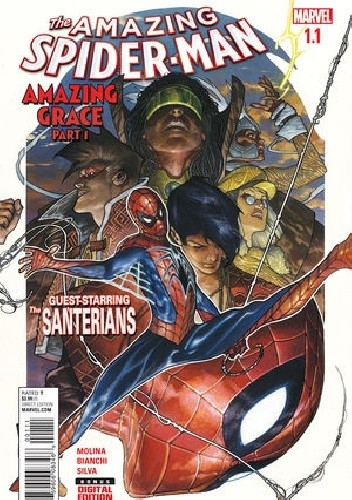 Okładka książki Amazing Spider-Man Vol 4 #1.1 - Amazing Grace - Part One: A Wretch Like Me