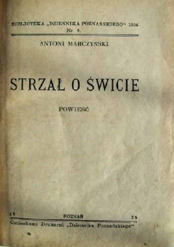 Okładka książki Strzał o świcie