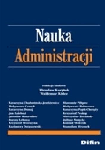 Okładka książki Nauka administracji