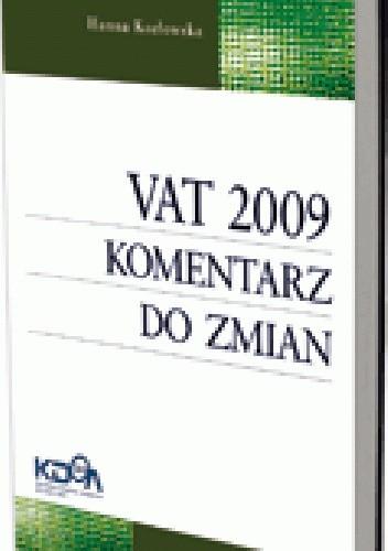 Okładka książki VAT 2009. Komentarz do zmian