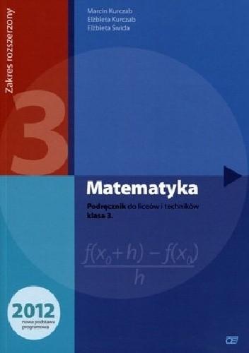 Okładka książki Matematyka 3. Podręcznik. Zakres rozszerzony