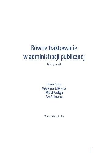 Okładka książki Równe traktowanie w administracji publicznej