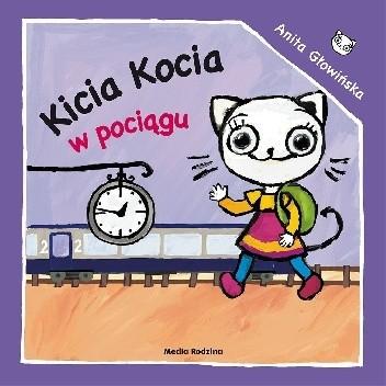 Okładka książki Kicia Kocia w pociągu