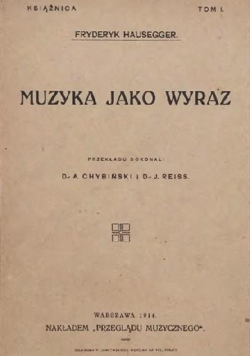 Okładka książki Muzyka jako wyraz