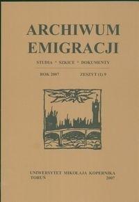 Okładka książki Archiwum Emigracji tom 9