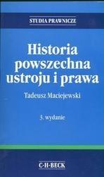 Okładka książki Historia powszechna ustroju i prawa