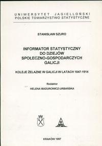 Okładka książki Informator statystyczny do dziejów społeczno-gospodarczych G