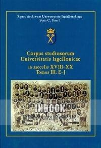 Okładka książki Corpus studiosorum Universitatis Iagellonicae