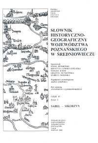 Okładka książki Słownik historyczno-geograficzny ziem polskich w średniowiec