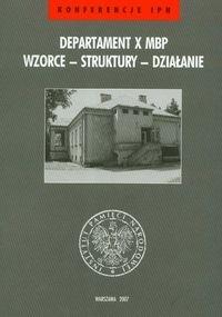 Okładka książki Departament X MBP Wzorce struktury działanie t.32