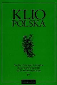 Okładka książki Klio Polska IV