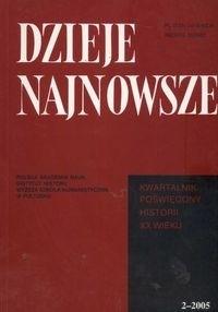 Okładka książki Dzieje najnowsze 2/2005