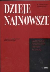 Okładka książki Dzieje najnowsze 4/2006