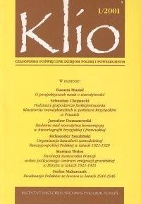 Okładka książki Klio.  Czasopismo poświęcone dziejom Polski i powszechnym 1/2001