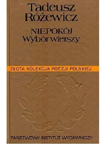 Okładka książki Niepokój. Wybór wierszy