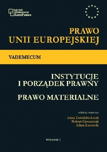 Okładka książki Prawo Unii Europejskiej Vademecum