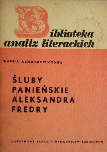 Okładka książki Śluby panieńskie Aleksandra Fredry
