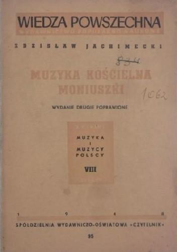Okładka książki Muzyka kościelna Moniuszki