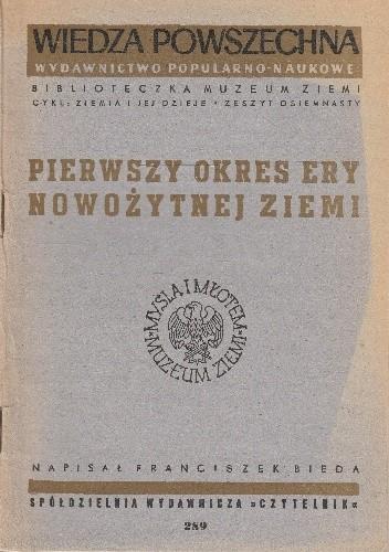 Okładka książki Pierwszy okres ery nowożytnej Ziemi