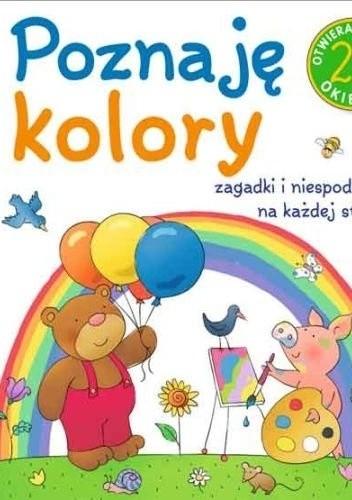 Okładka książki Poznaję kolory. 25 otwieranych okienek