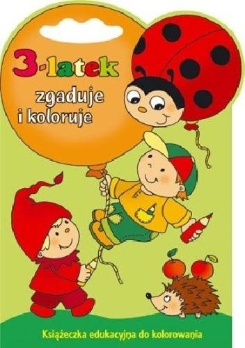 Okładka książki 3-latek zgaduje i koloruje
