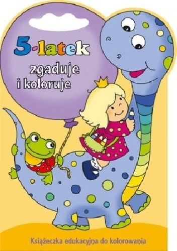 Okładka książki 5-latek zgaduje i koloruje