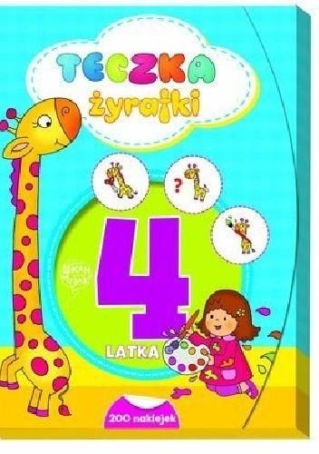 Okładka książki Teczka żyrafki. 4 latka