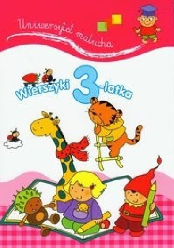 Okładka książki Wierszyki 3-latka. Uniwersytet malucha