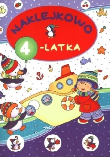 Okładka książki Naklejkowo 4-latka