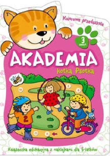 Okładka książki Akademia kotka Psotka. Część 3