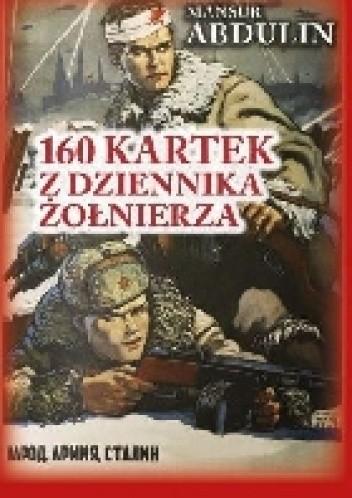 Okładka książki 160 kartek z dziennika żołnierza