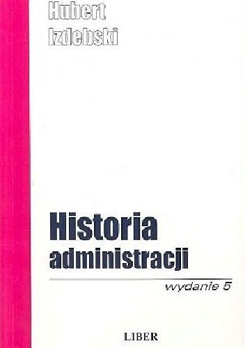 Okładka książki Historia administracji