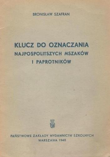 Okładka książki Klucz do oznaczania najpospolitszych mszaków i paprotników