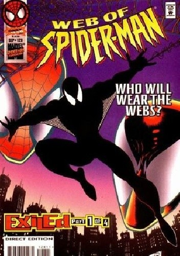 Okładka książki Web of Spider-Man #128: Exiled, Part 1 - Who Will Wear the Webs?