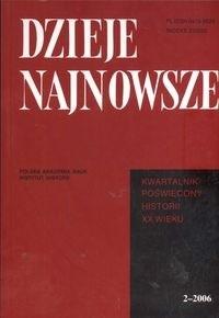 Okładka książki Dzieje najnowsze 22006