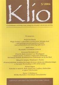 Okładka książki Klio. Czasopismo poświęcone dziejom Polski i powszechnym 5/2004