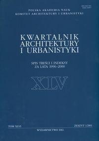 Okładka książki Kwartalnik Architektury i Urbanistyki tom XLVI