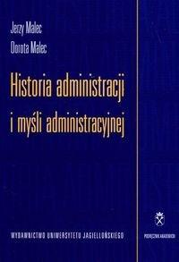 Okładka książki Historia administracji i myśli administracyjnej