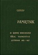 Okładka książki Pamiętnik 25-letniej działalności Galicyjskiego Towarzystwa Leśnego 1882-1907