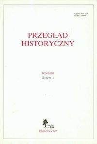 Okładka książki Przegląd Historyczny tom XCIII Zeszyt 1