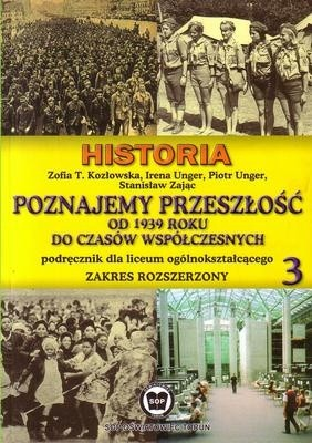 Okładka książki Poznajemy przeszłość od 1939 roku do czasów współczesnych cz.3/