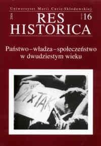 Okładka książki Państwo  władza  społeczeństwo w dwudziestym wieku
